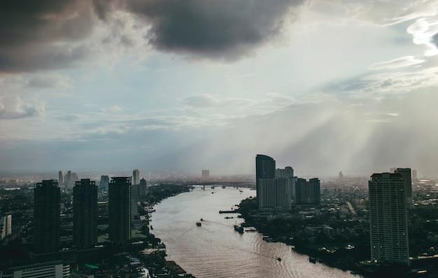 Paysage urbain vue paysage centre ville Photo gratuit