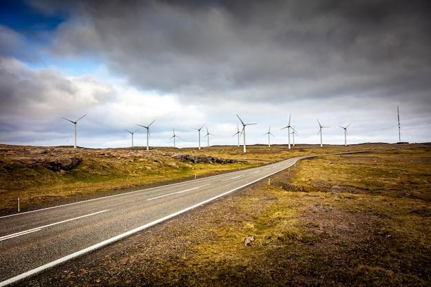 Paysage de vent de ferme Photo Premium