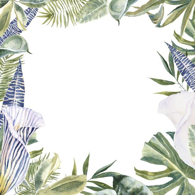 Peau d'animal fleurs sauvages, feuilles tropicales Photo Premium