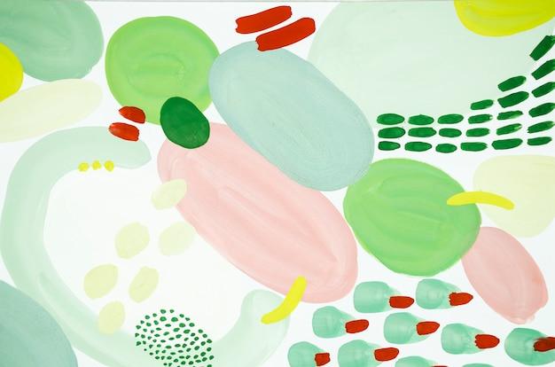 Peinture abstraite rouge et verte Photo gratuit