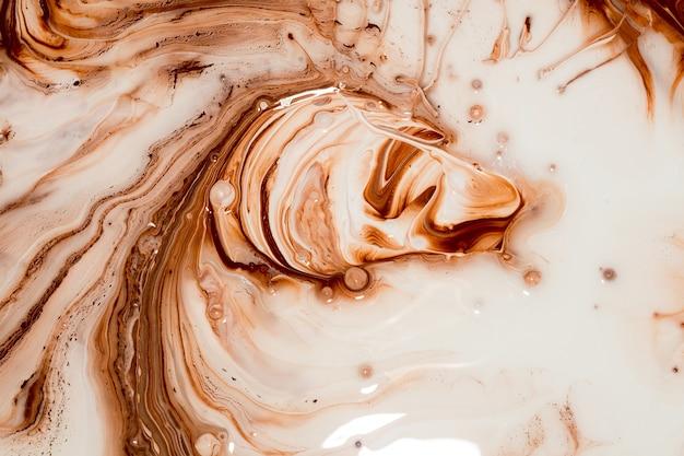 Peinture brune aux couleurs mélangées Photo Premium