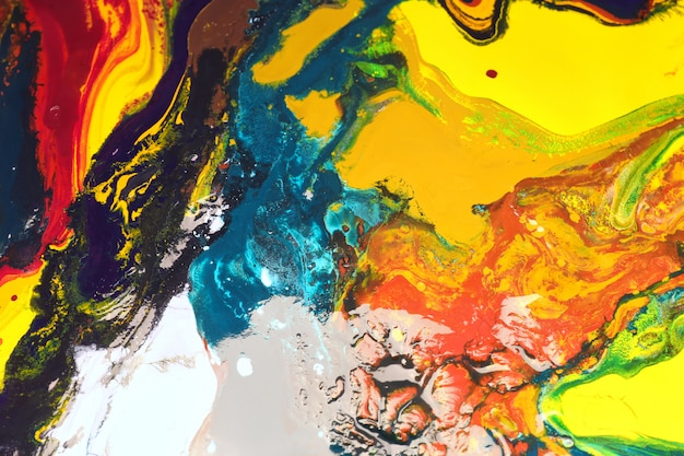 La peinture en couleur peut être utilisée comme un fond branché pour des affiches, des cartes, des invitations et des fonds d'écran. Photo Premium