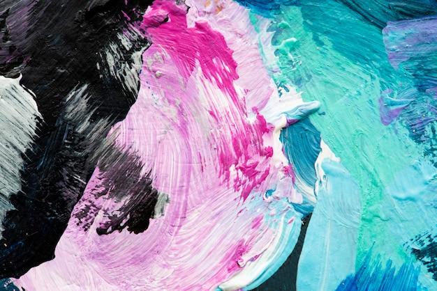 Peinture à l'huile abstraite texturée Photo gratuit