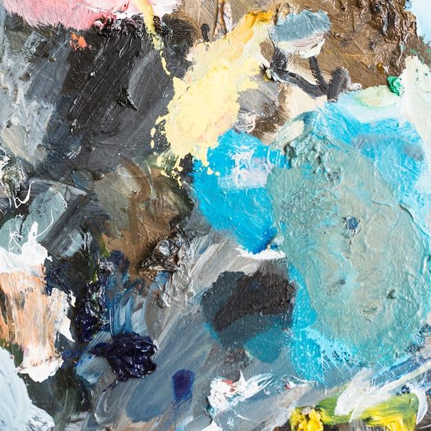 Peinture à l'huile artistique multicolore abstraite texturée Photo gratuit