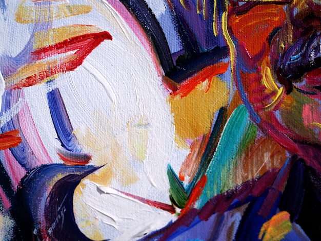 Peinture à L'huile Colorée Multi Couleurs Abstrait Et Texture. Photo Premium