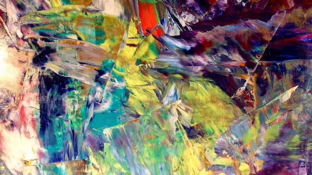 Peinture à L'huile De Fond Abstrait Coloré Sur Toile Photo Premium