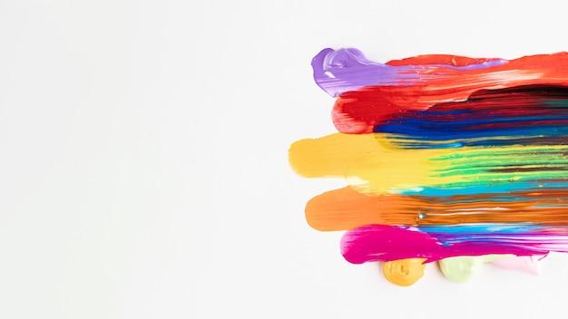 Peinture mixte avec espace copie Photo gratuit