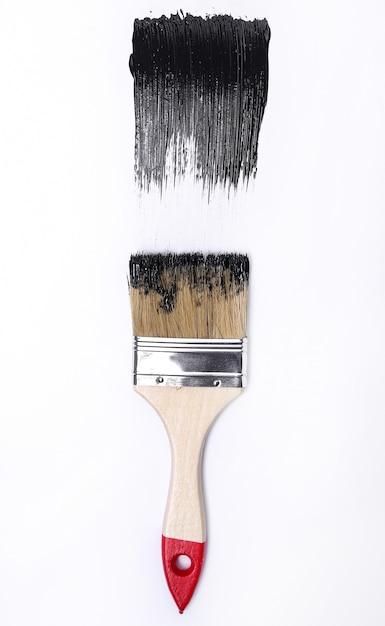 Peinture Noire Sur Fond Blanc Photo gratuit