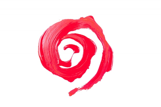 Peinture rouge sur fond blanc Photo Premium