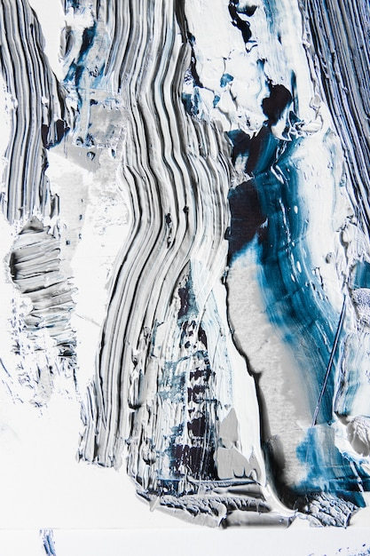 Peinture Texturée Crème Sur Fond Transparent, Oeuvre Abstraite. Photo gratuit