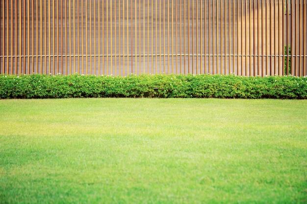 Pelouse Dans Le Jardin. Photo Premium
