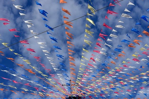 Pennons décoratifs de festas juninas Photo Premium