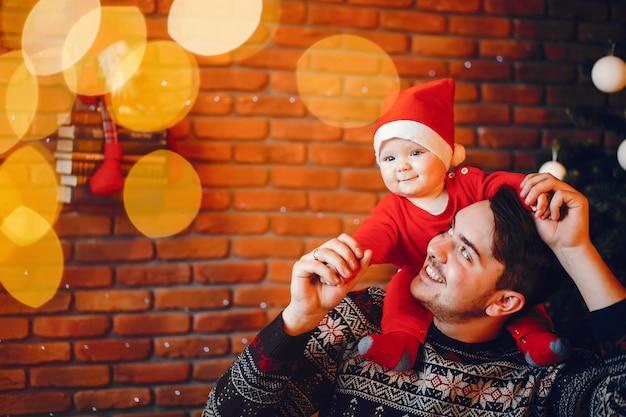 Père avec fils Photo gratuit