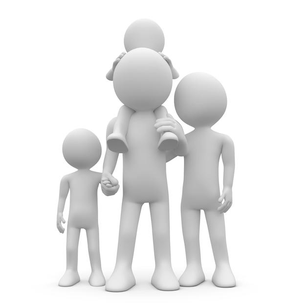 Père Et Mère Avec Leurs Deux Enfants Photo Premium