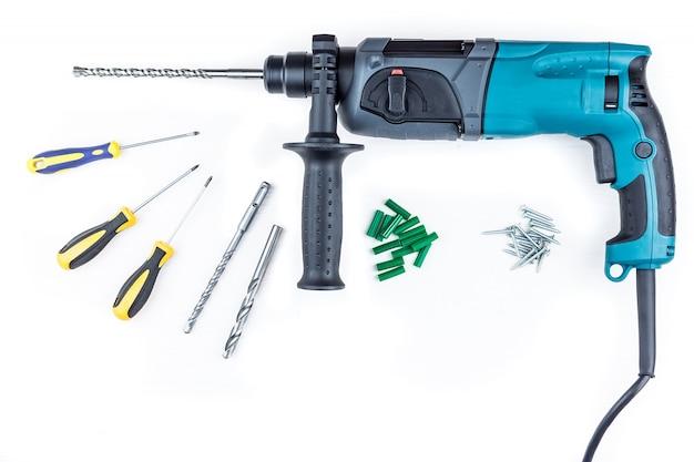 Perforateur et tournevis à vis Photo Premium