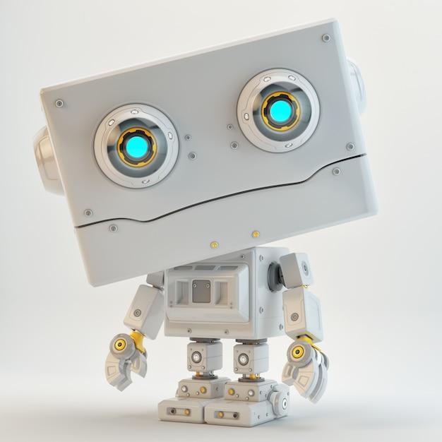 Personnage robot science fiction Photo Premium