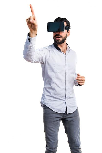 Personne virtuelle de console de vision de loisir Photo gratuit
