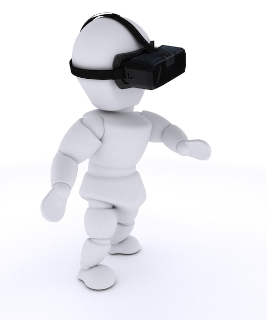 Personne voir à travers des lunettes de réalité virtuelle Photo gratuit