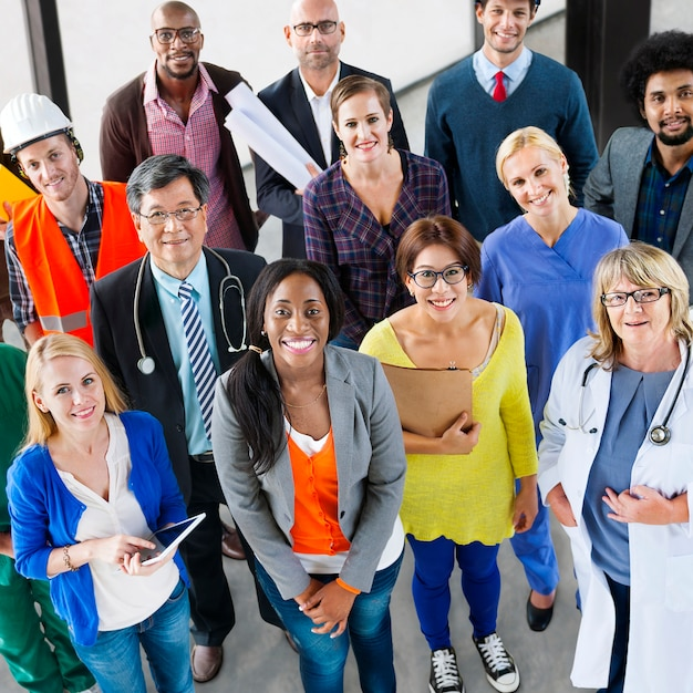 Personnes carrière profession équipe travail concept d'entreprise Photo Premium