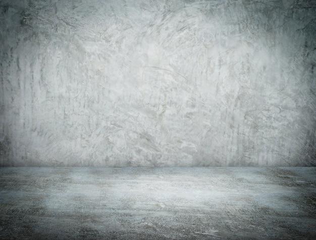 Perspective De La Pièce Vide Mur De Béton Grunge Et Sol En