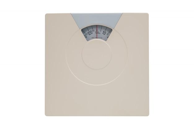 Pèse-personne ou pèse-personne isolé sur blanc Photo Premium
