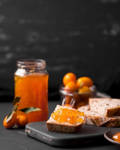 Petit Dejeuner Fait Maison Avec Pain Et Confiture Photo Gratuite