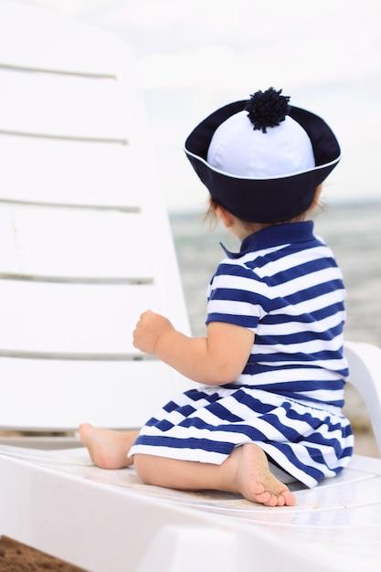MarinièreTélécharger Petite Longue Rayée Des Chaise Robe Fille jLqUMzSVpG