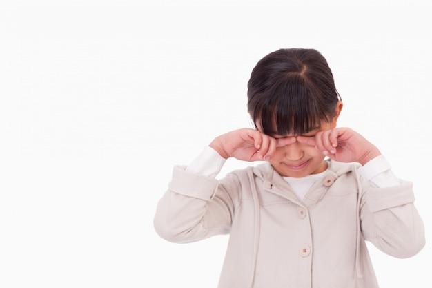 Petite fille qui pleure Photo Premium