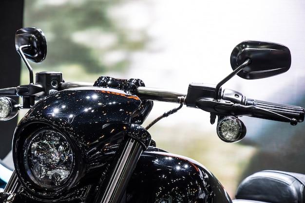 Phare de moto classique classique Photo Premium