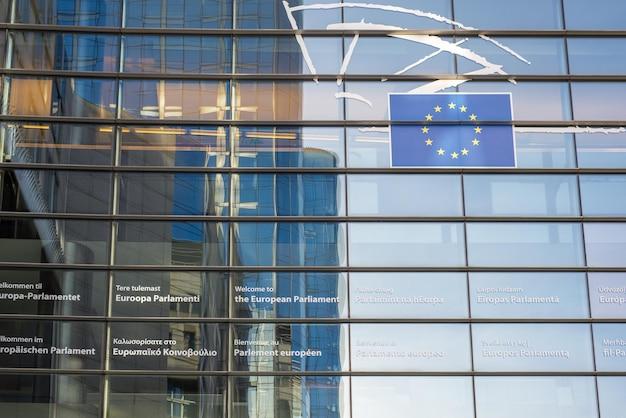 Photo Du Parlement Européen. Les Réunions De L'ensemble Du Parlement, Les Sessions Plénières, Ont Lieu à Bruxelles. Photo Premium