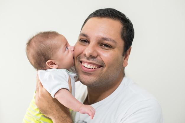 Photo du père et de son bébé Photo Premium