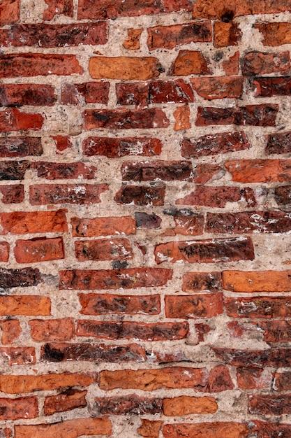 Photo Gros Plan De Vieux Mur De Briques. Texture Vintage Photo Premium