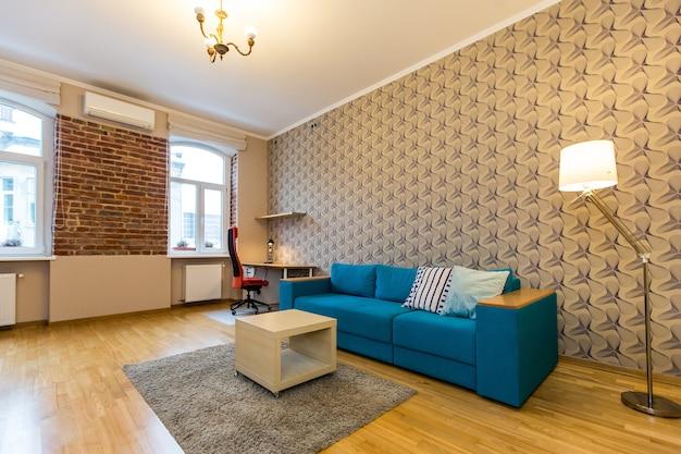 Photo Intérieure D'une Chambre Dans Un Style Loft Moderne Photo Premium
