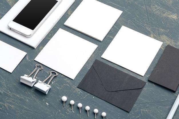 Photo. modèle d'identité de marque. pour les présentations et les portfolios des graphistes Photo Premium