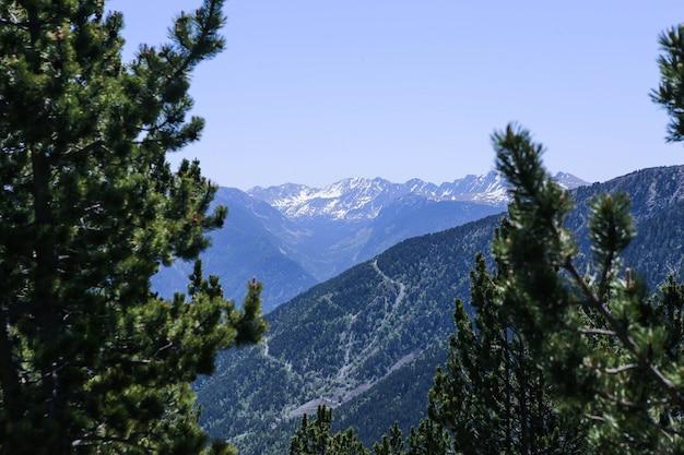 Photo De Paysage De Montagne Des Pyrénées Enneigées Dans La Station De Ski D'el Tarter, Andorre. Photo Premium