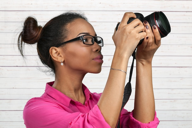 Photographe afro-américain Photo Premium