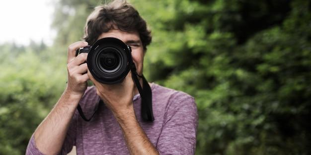 Photographe Vous Prenant En Photo Photo Premium