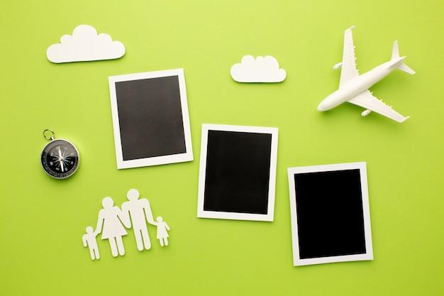 Photos Instantanées De Dessus Avec Des Formes Familiales Photo Premium