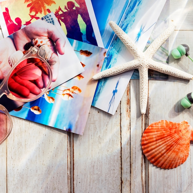 Photos starfish seashells images concept memories beach Photo gratuit