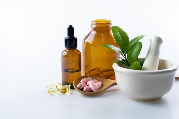 Phytothérapie Alternative, Vitamines Et Suppléments Naturels Photo Premium