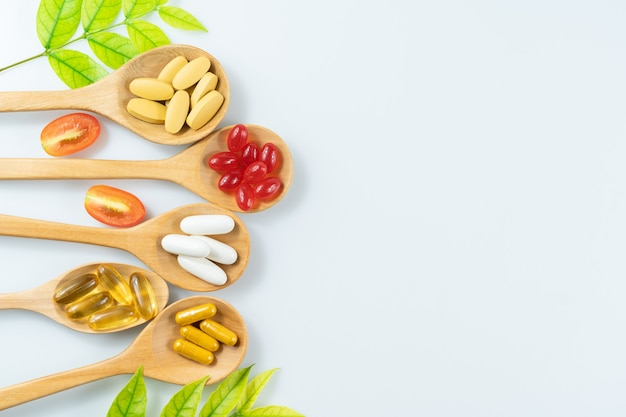Phytothérapie Alternative, Vitamines Et Suppléments Photo Premium