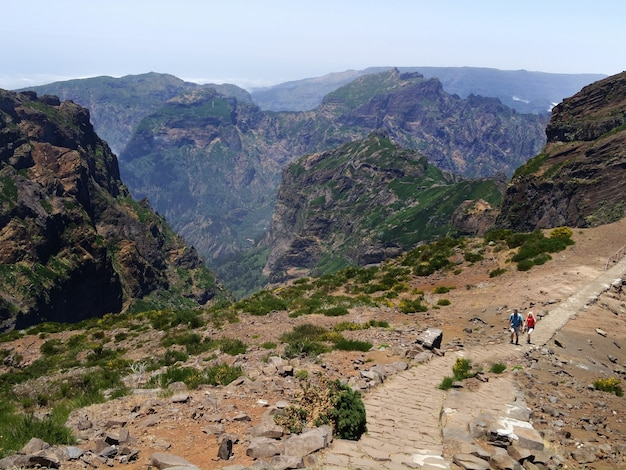 Pico do arieiro sur l'île de madère Photo Premium