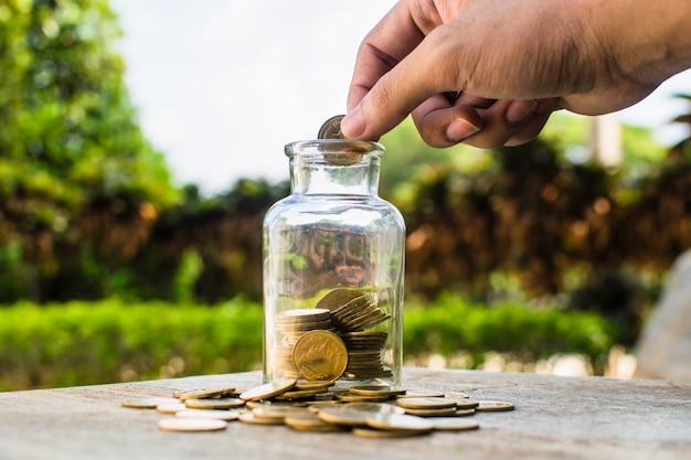 Pièce d'argent pour la croissance de votre entreprise Photo Premium