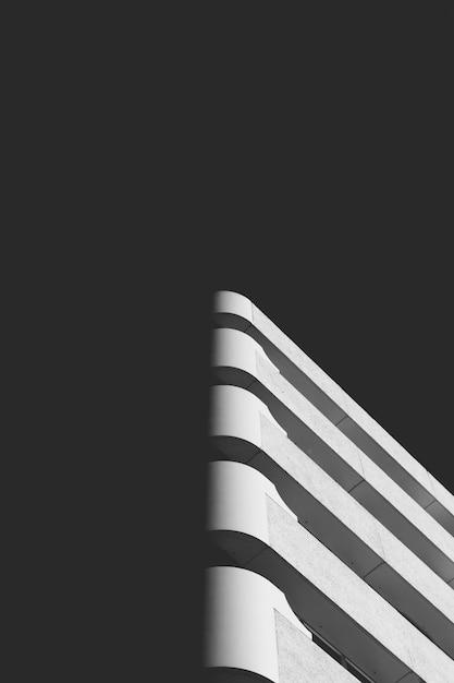 Pièce D'art Architectural Abstrait Dans Une Ombre Photo gratuit