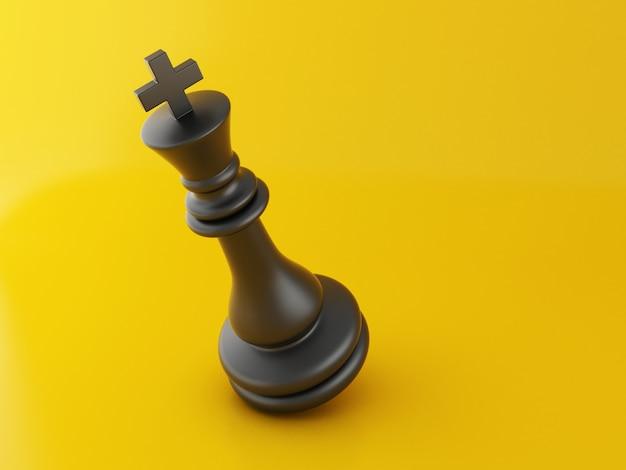 Pièce d'échecs 3d perdue Photo Premium