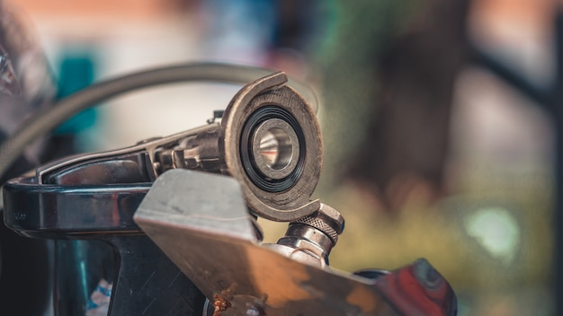 Pièces de moteur industriel Photo Premium