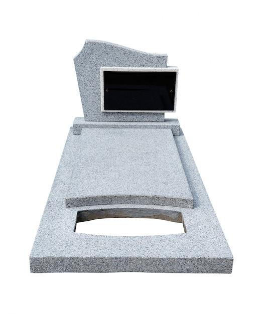 Pierre tombale simple découpée (tracé de détourage) Photo Premium