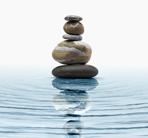 Pierres zen dans l'eau Photo Premium