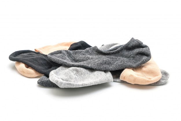 Pile de chaussettes courtes Photo Premium