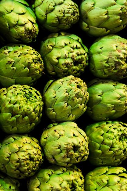 Pile de fruits vue de dessus Photo gratuit